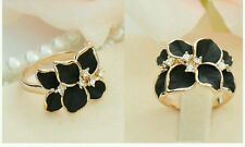 #9037 Hot New Design Fashion Simple Black Crystal  Ring