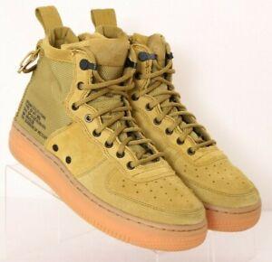 Nike Air AJ0424-300 SF AF1 Green Suede Lace-Up Zip Hi-Top Sneakers Youth US 4
