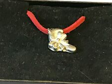 """Candy Cane TG198 English Pewter On 18"""" Red Cord Necklace"""