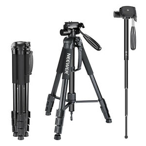 "Neewer 2-in-1 Camera Tripod Monopod 70""/177 cm with 3-Way Swivel Pan Head"