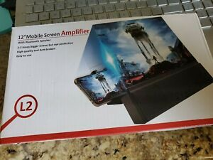 """12"""" MOBILE SCREEN AMPLIFIER With HIFI Bluetooth Speaker L2 Rechargeable Battery"""