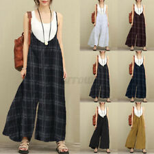 Women's Retro Casual Jumpsuit Wide Leg Yoga Drop Crotch Loose Overalls Rompers
