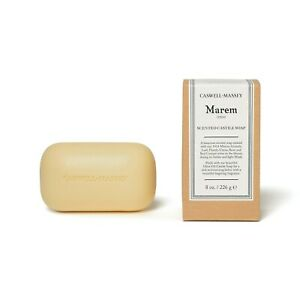 Caswell-Massey MAREM Scented Olive Oil Castile Soap AMBER/Light Musk Scent  NWT