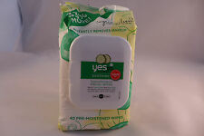 Yes To Cucumbers Hypoallergenic Facial Wipes 40 Ct  Facial Wipes  Cleans Skin