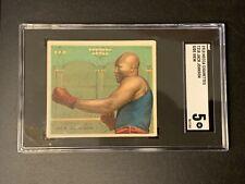1910 T218 Mecca Champions Boxing Jack Johnson SIDE VIEW SGC 60 = PSA 5