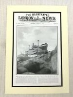 1915 WW1 Originale Stampa Ss Fiume Clyde Nave Gallipoli Landings The Dardanelles