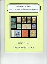 Harmers of London Auction catalog June 7 1983 of Specimens of GB & Commonwealth.
