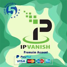 IPVanish VPN Premium Account, 5 Years Usage Account,5 Years Warrant