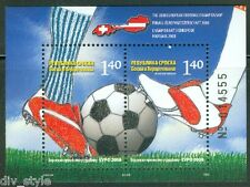 2008 Euro Soccer Championship mnh souvenir sheet Bosnia & Herzegovina (Serb)