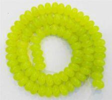 "5x8mm Peridot Rondelle Loose Beads Gemstone 15"" AAA"