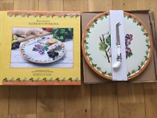 Portmeirion Alfresco Pomona Cheese Board Plate Knife GIFT KITCHEN CATERING WOW