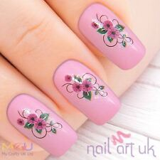 Purple Flower Water Decal Nail Art Stickers - 01.03.072