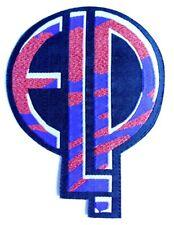 ELP - EMERSON LAKE & PALMER - Logo Shaped Glittered Woven Patch Sew/Iron On