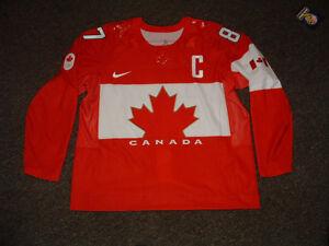 SIDNEY CROSBY #87 TEAM CANADA 2014 SOCCHI RED AUTHENTIC HOCKEY JERSEY 56/XL NEW