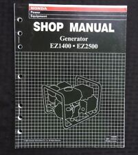 GENUINE HONDA EZ1400 EZ2500 GENERATOR SERVICE REPAIR SHOP MANUAL VERY NICE SHAPE