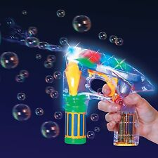 Bubble Ray Light Up Gun - Flashing LED - Kids Party Outdoor Garden Fun Toy Gift