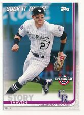 TREVOR STORY 2019 TOPPS OPENING DAY 5X7 SOCK IT TO ME 01/49 *COLORADO ROCKIES*