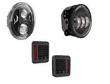 JW Speaker J Series LED Headlights Tail lights Fog lights Wrangler JK Black 7-15