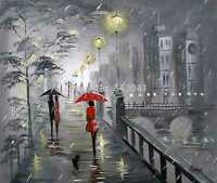 100%Hand-painted Art Oil Painting Abstract Girl Landscape 16*20inch  Canvas