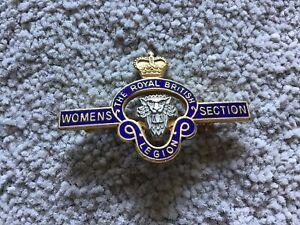 British Legion Women's Section Enamel Brooch Pin Badge