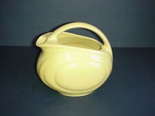 Vintage Yellow Ware Over and Back Pitcher Handle