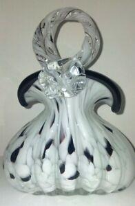 Vintage Murano Lavorazione - Art Glass Handbag Ornament/ Planter/ Vase