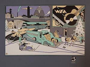 Ever Meulen. Sérigraphie. WEA. Archives Internationales. 70x 100 cm.1989