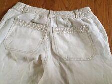 Liz Claiborne Audra Light Beige Flat Front Trouser Pants 26 X 29 Size 4