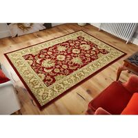 Kendra  45M Red Beige Traditional Style Rug in various sizes and runner