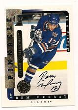 1996/7 Pinnacle Die Cut Auto Rem Murray Edmonton Oilers