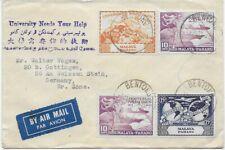 Malaya - Pahang - 1950 - Luftpost nach Göttingen - UPU