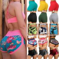 Women's High Waist Yoga Shorts Push Up Ruched Pants Booty Leggings Fitness Gym S