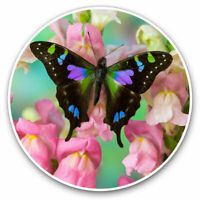 2 x Vinyl Stickers 7.5cm - Beautiful Butterfly Flowers Cool Gift #2079