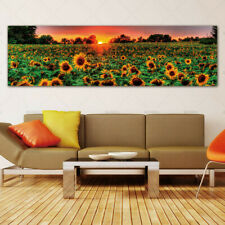 Red Flower Sunflower Painting on the Canvas Wall Painting Home Decor No Frame