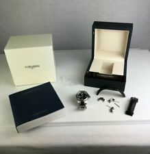 Longines HydroConquest L3.641.4 Automatic Black Dial Stainless Steel Men's 39mm