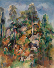 Rocks and Trees by Paul Cézanne 60cm x 48cm Art Paper Print