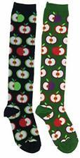 Socksmith Women's Apple for the Teacher Knee High Socks (2Pr), Cotton Blend
