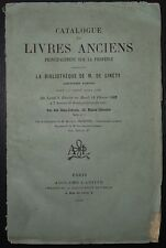Catalogue de livres anciens principalement sur la Provence de M. DE SINETY /1882