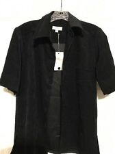 BCBG MAXAZRIA Black Blazer Suit Jacket Medium Short Sleeved