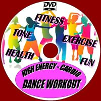 High Energy Cardio Dance Workout Healthy Fun Fitness Great Aerobic Exercise DVD