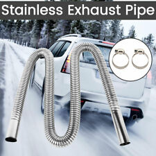 120cm Stainless Steel Exhaust Pipe O.D 2.5cm Gas Vent For Car Air Parking Heater