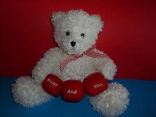 "Hallmark Valentine's Day ""Bear Your Feelings"" Plush Bear w/ removable blocks GUC"