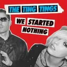 """THE TING TINGS """"WE STARTED NOTHING"""" CD NEW+"""