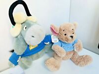 Walt Disney World Eeyore Winter Team 'E' & Disney Store Roo Plush Soft Toys
