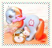 ❤️My Little Pony MLP G1 Vintage Bright Eyes Gem Twinkle Eye Alarm Clock 1987❤️