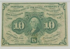 10 Cents 1st Issue Fractional Currency Fr#1242 Straight Edges PMG Certified XF40