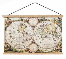 1:12 Scale Dolls House Ancient World Map Wall Hanging Study School Accessory