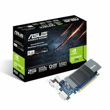 ASUS GT710-SL-2GD5 2GB DDR5 PCIe 2 HDMI DVI VGA GPU Tweak II silenciosa de bajo perfil
