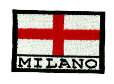 toppa ricamata patch termoadesiva ricamo italia MILANO calcio bandiera toppe