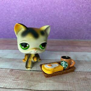 100% AUTHENTIC Littlest Pet Shop LPS #27 Calico Shorthair Cat w Accessories